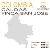 Colombia – Caldas Finca San José (Washed – Rum Barrel Aged)