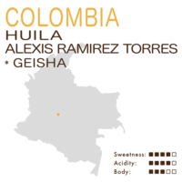 Colombia – Huila Alexis Ramirez Torres (Natural) – Geisha (Microlot)