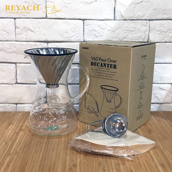 Hario V60滴漏式滤杯金属咖啡壶套装
